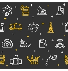Oil Industry Background Pattern vector image vector image