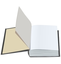 Open book with clean first sheets Open book with vector image vector image