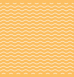 orange waves seamless pattern vector image vector image