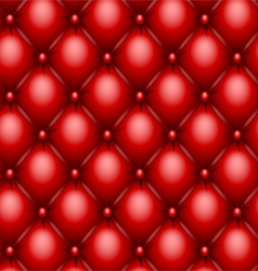 red upholstery texture vector image