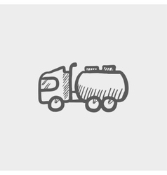 Tanker truck sketch icon vector image
