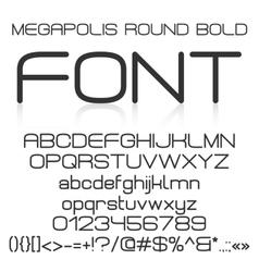 Trendy modern elegant bold font alphabet vector image vector image