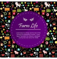 Vegetables and fruits dark banner vector image