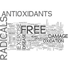 Where does free radicals come from text word vector