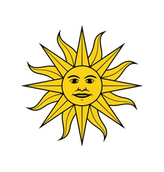 Sun of may vector