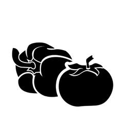 Fresh sweet pepper tomato vector image