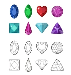 Gems and cut line set different facets for vector