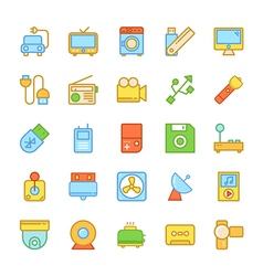 Electronics Colored Icons 7 vector image