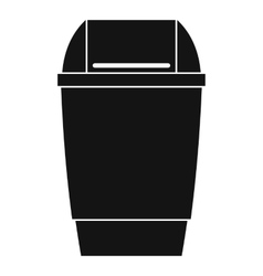 Flip lid bin icon simple style vector