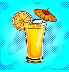 summer cocktail pop art vector image