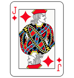Jack of diamonds french version vector