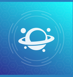 Planet icon astronomy space exploration vector