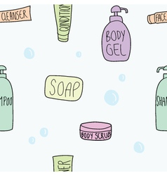 Bath accessories seamless vector
