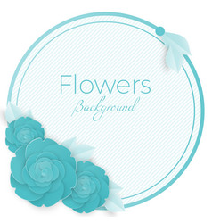 Flowers background with three dimensional blue vector