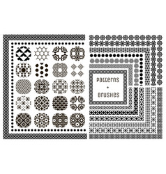 20 geometric patterns and 15 pattern vector image vector image