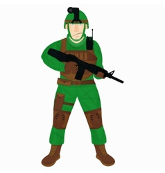 Cartoon modern soldier vector