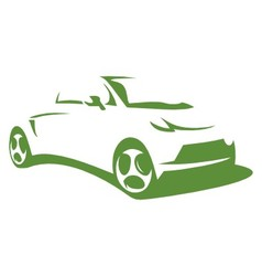 Silhouette electric car vector