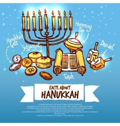Hanukkah infographics set vector