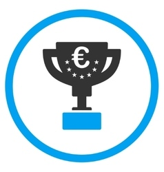 Euro award cup rounded icon vector