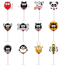 Balloons animal set in colorful vector