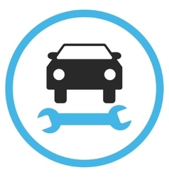 Car repair flat icon vector