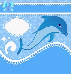 Dolphin Background vector image