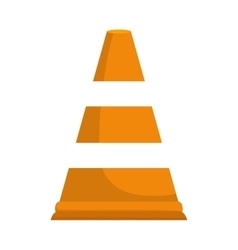 Cone icon industrial security design vector