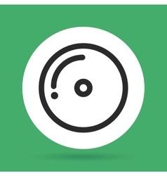 Cd icon music and sound design graphic vector