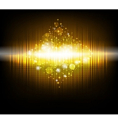 abstract christmas tree in golden color vector image