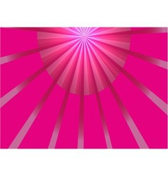 Abstract pink ray light background vector image vector image