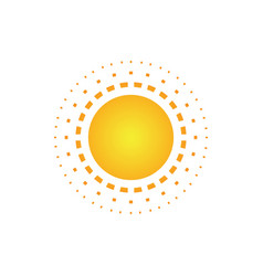 Abstract sun dot logo image vector