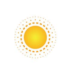 abstract sun dot logo image vector image