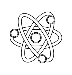 Atom science chemistry vector