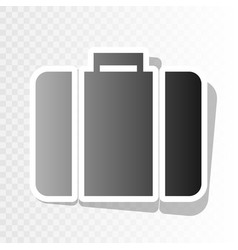 Briefcase sign new year vector
