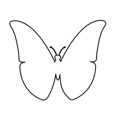 Butterfly silhouette isolated icon vector