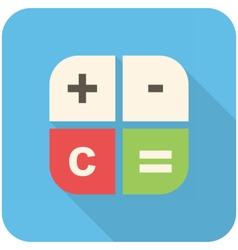 Calc icon vector image vector image