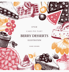 Card design with vinatge baking vector