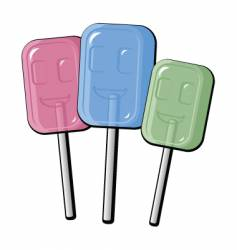 cartoon lollipops vector image