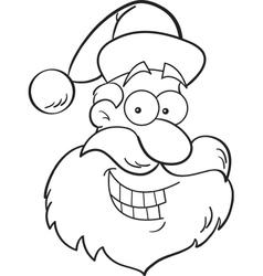 Cartoon santa claus head vector