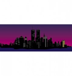 cityscape at night vector image vector image