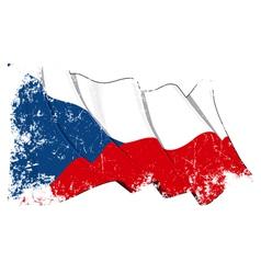 Czech republic flag grunge vector