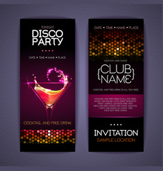 Disco corporate identity templates cocktail vector