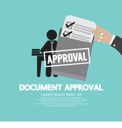 Document Approval vector image