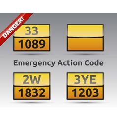Emergency action code adr vector