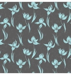 Garden flowers seamless pattern background vintage vector image