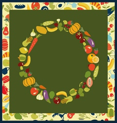 healthy life set Fruits and Vegetables healthy vector image vector image