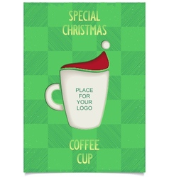 Joke christmas coffee cup vector