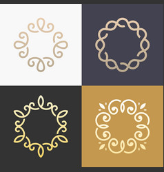 monogram elegant logo icon design vector image