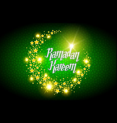 ramadan kareem greeting card on green background vector image vector image