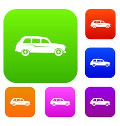 retro car set collection vector image